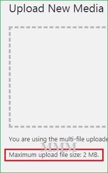 Maximum Upload File Size 2 MB