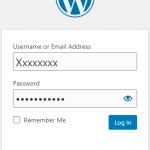 login wordpress admin dashboard