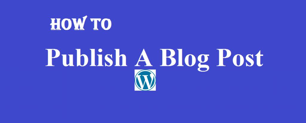 Publish blog post on WordPress