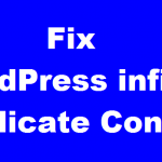WordPress infinite Duplicate Content Under One URL - How to Fix