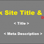Check website meta title tag and meta description