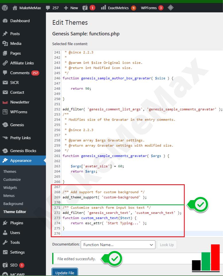 Customize search form input box